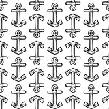Seamless boat anchor background