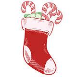 Christmas stocking sketch