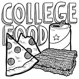 College food sketch