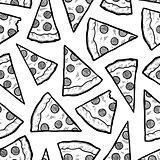 Seamless pizza slice background