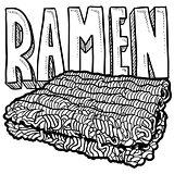 Ramen noodles sketch