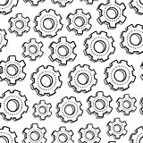 Seamless mechanical gear background