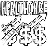 Health care costs increasing sketch