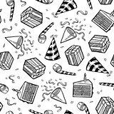 Seamless party objects background