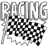 Racing sports sketch