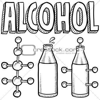 Alcohol molecule sketch