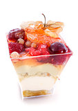 fruit mousse verrine