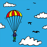 Parachute jump
