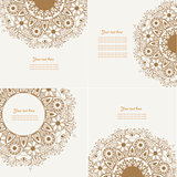 Set of Four Decorative Vintage Design Element. Can be used for for packaging,postcards,skins,prints and so on.
