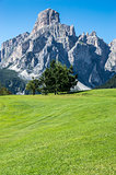 view of Sassongher, Alta Badia - Dolomites