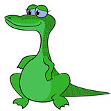 Crocodile Cartoon Vector Illustration