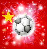 China soccer flag