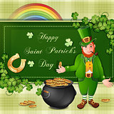 Saint Patrick Day&#39;s card