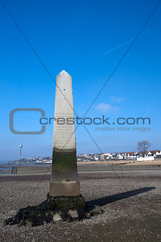 The Crowstone at Westcliff on Sea, near Southend, Essex, England