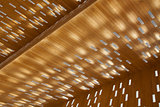 Wooden city hall Ghent light