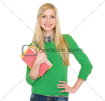 Portrait of smiling student girl