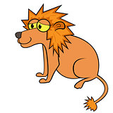 Lion Cartoon Vector Illustration