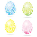 Set of mosaic Easter eggs