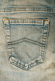 Jeans back blue pocket