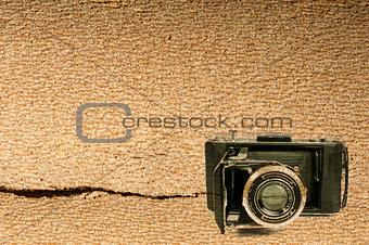 Old vintage camera background