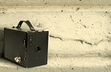 Old vintage camera background