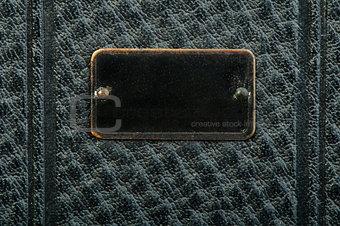 Old vintage black leather background