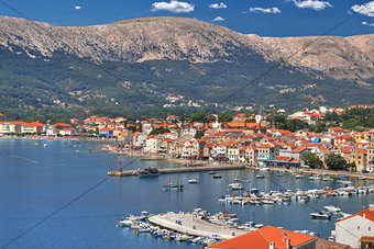 Town of Baska waterfront, Krk island