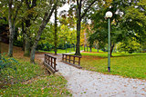 City of Zagreb autumn park