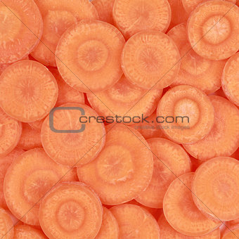 Carrots forming a background