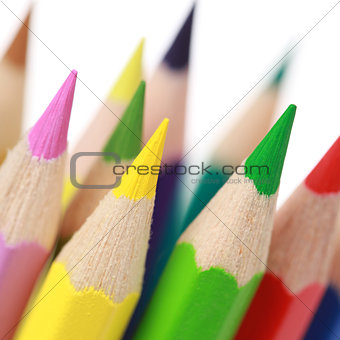Group of colorful pencils