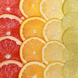 Oranges and lemons background