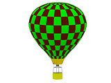 Air Balloon in a checkerboard