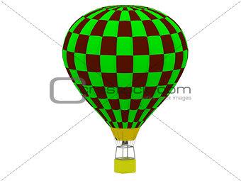 Air Balloon in a checkerboard