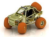 Mini ATV buggy golden color