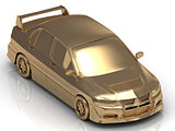 Gold machine concept model