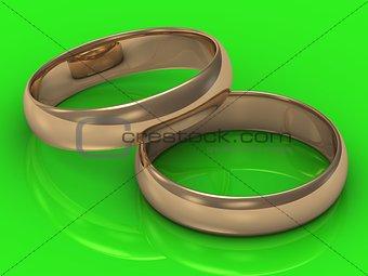 2 Gold wedding rings
