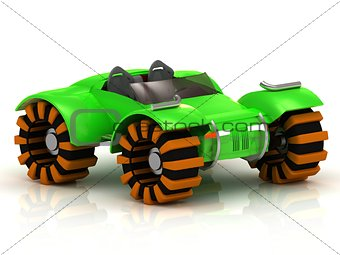 ATV buggy green