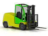 Forklift for airport isolated