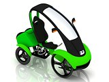 Electric bike velomobile 