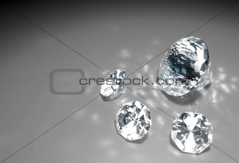four diamonds on the floor