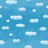 Blue Sky Seamless Pattern