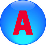 Alphabet icon symbol letter A
