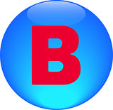  Alphabet icon symbol letter B