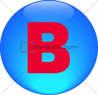 Alphabet icon symbol letter B