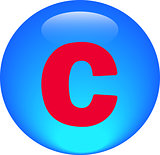  Alphabet icon symbol letter C
