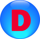  Alphabet icon symbol letter D