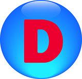 Alphabet icon symbol letter D