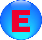  Alphabet icon symbol letter E