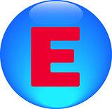 Alphabet icon symbol letter E