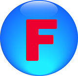 Alphabet icon symbol letter F